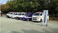 東京湾北部地震想定訓練においては、中核充填所の緊急車両による避難所等への 緊急出動などが実演され、LPガスの災害時の有用性が確認された。