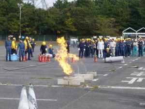 LPガス消火訓練の様子