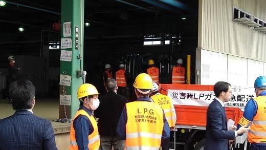 他系列容器(ボンベ)への災害時充填を実施確認