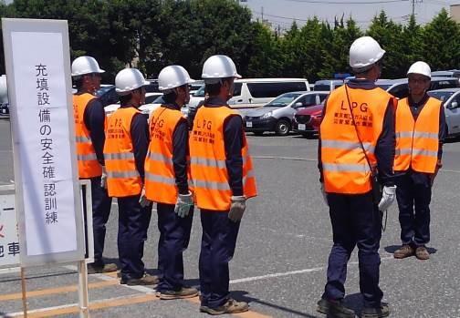 充填所設備の安全点検を実施し稼働可能判断を報告