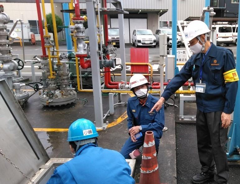 「地下貯蔵タンク安全点検訓練」